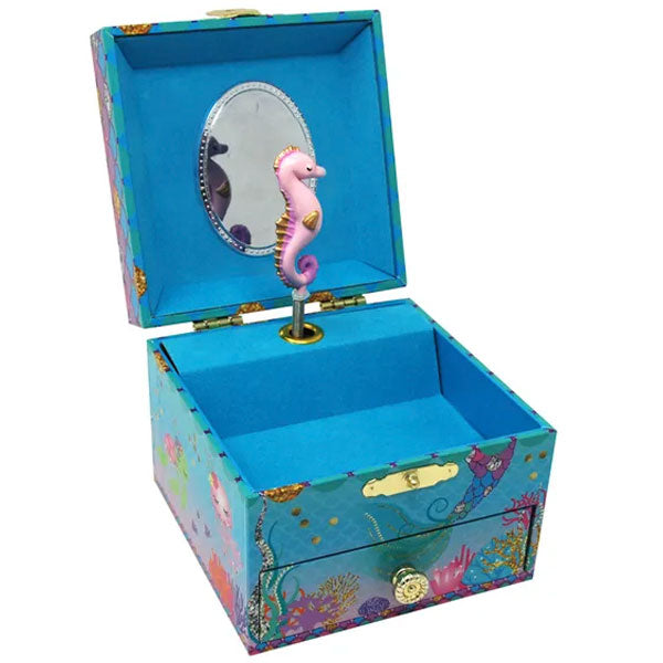 Pink Poppy | Musical Jewellery box Small - Under The Sea