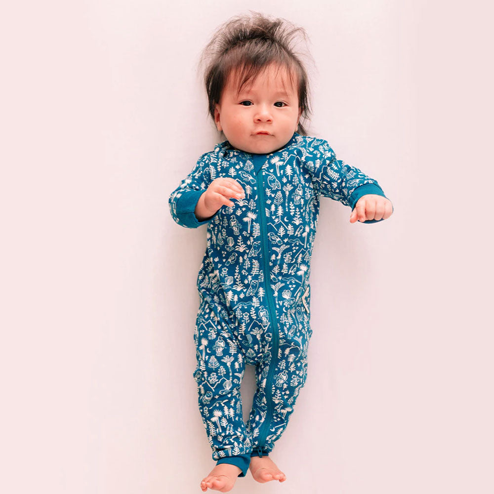 Woolbabe | Pyjama Suit - Lake Wilderness
