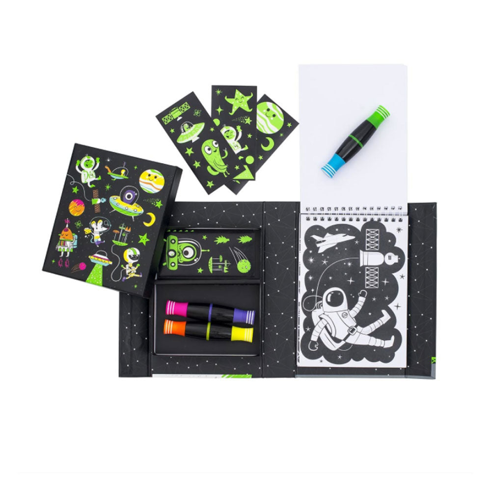 Tiger Tribe | Colouring Set - Outer Space Neon Colouring Set