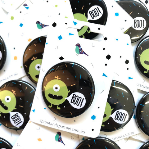 Sprout & Sparrrow | Button Badge - Monster