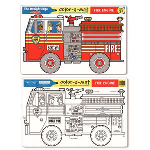 Melissa & Doug | Colour-A-Mat - Fire Engine
