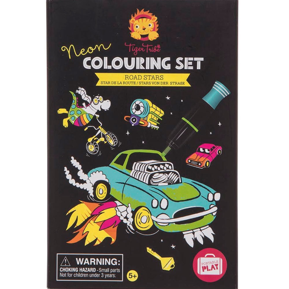 Tiger Tribe | Neon Colouring Set - Road Stars