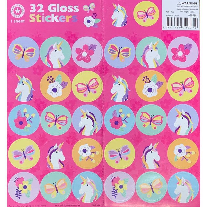 Sticker Sheet | Unicorns