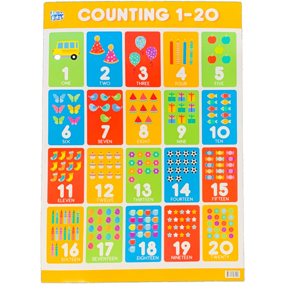 Anker Play | Educational Poster - Counting 1-20