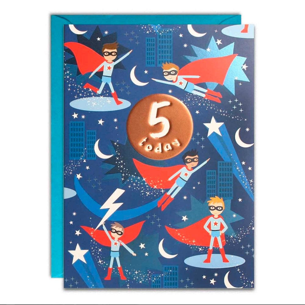 James Ellis | Birthday Cards 5 Today - Super Hero