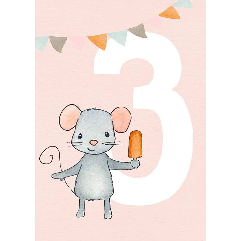 Henna Adel | Birthday Cards Age 3 - Mouse