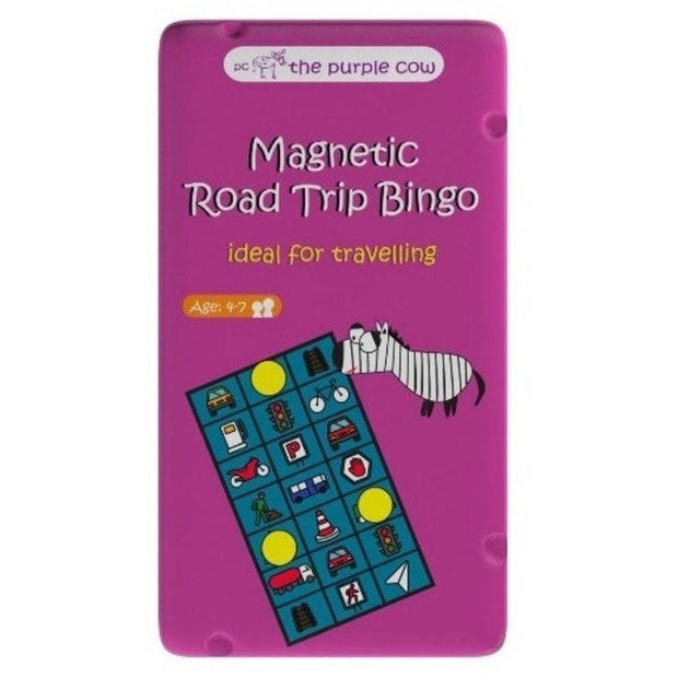 The Purple Cow | Travel Game - Magnetic Road Trip Bingo