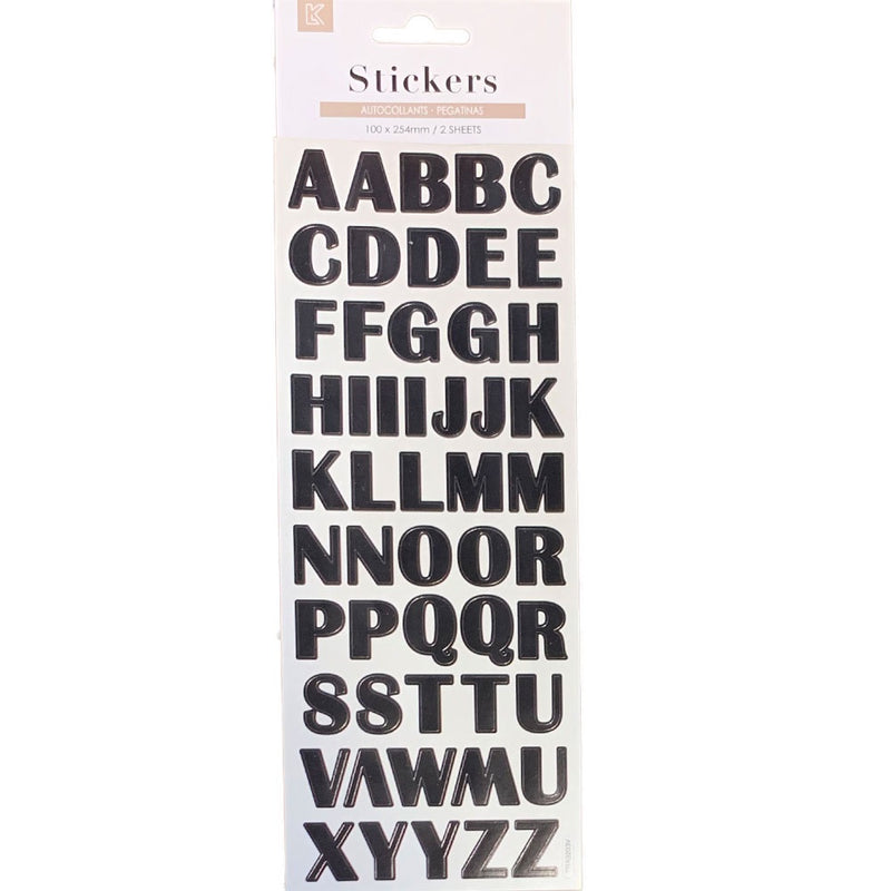 Five Star | Alphabet Sticker Sheet - Black