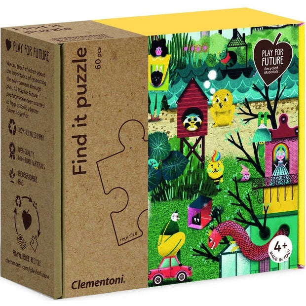 Clementoni | 60 Piece Find It Puzzle - Come In To My Garden
