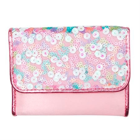 Pink Poppy | Fairy Sequin Wallet - Pale Pink