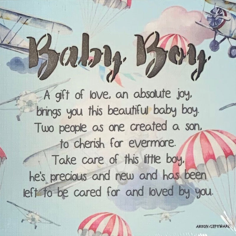 Arton | Light Up Wooden Plaque - Baby Boy