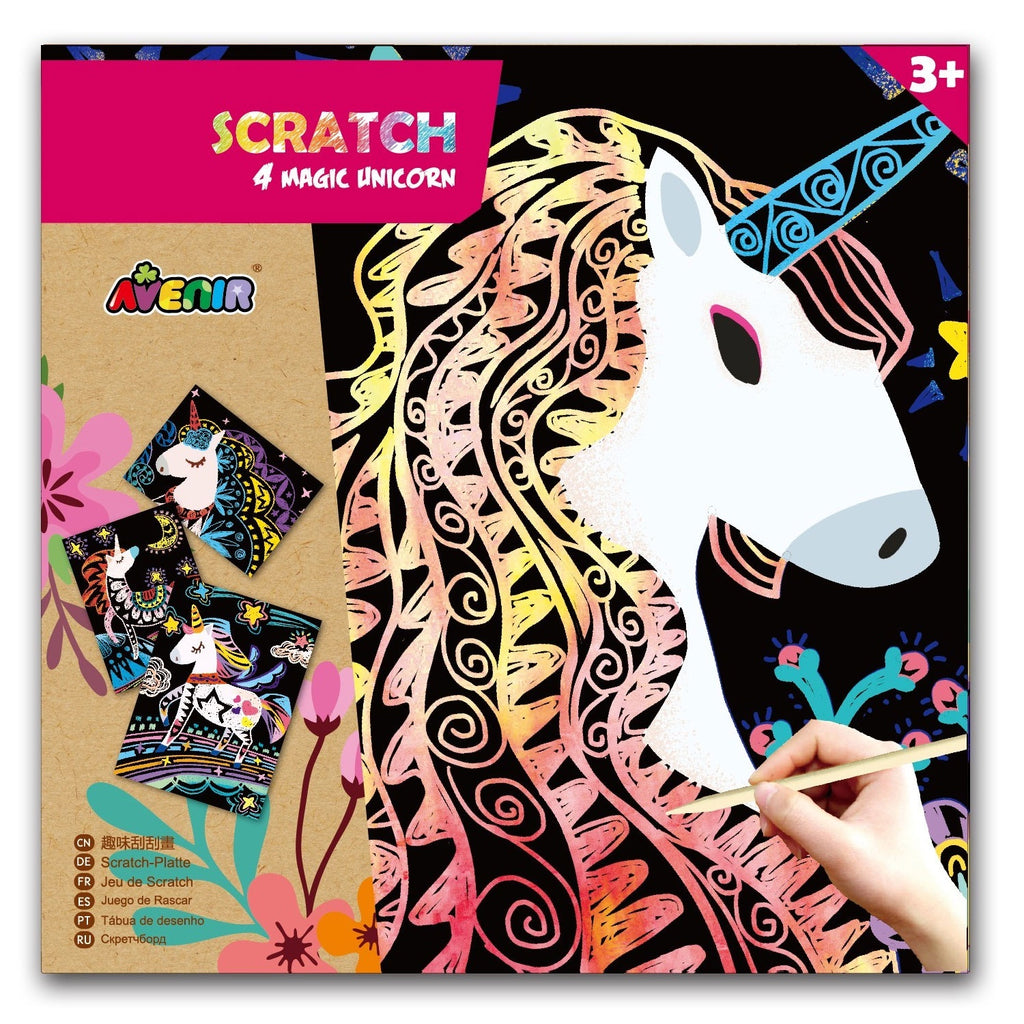 Avenir | Scratch - 4 Magic Unicorns