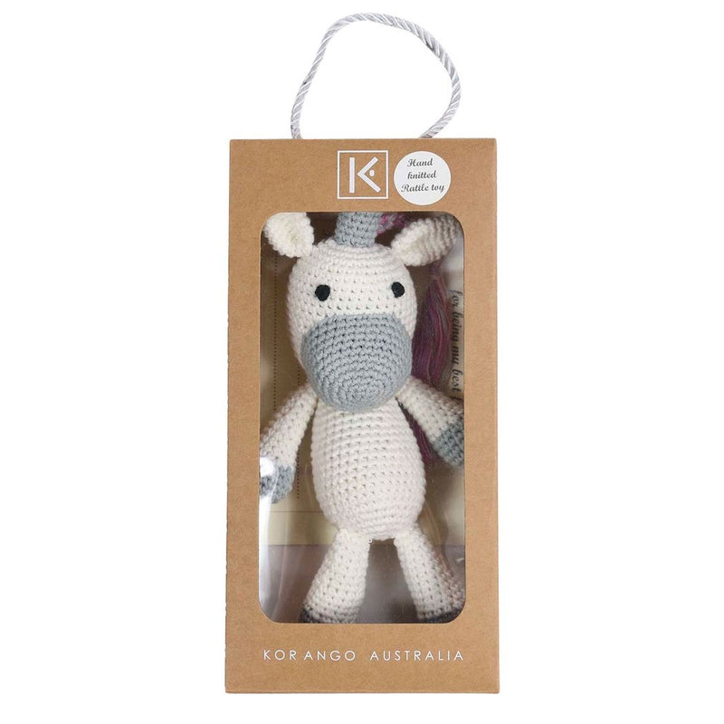 Korango | Hand Crocheted Rattle Toy - Unicorn