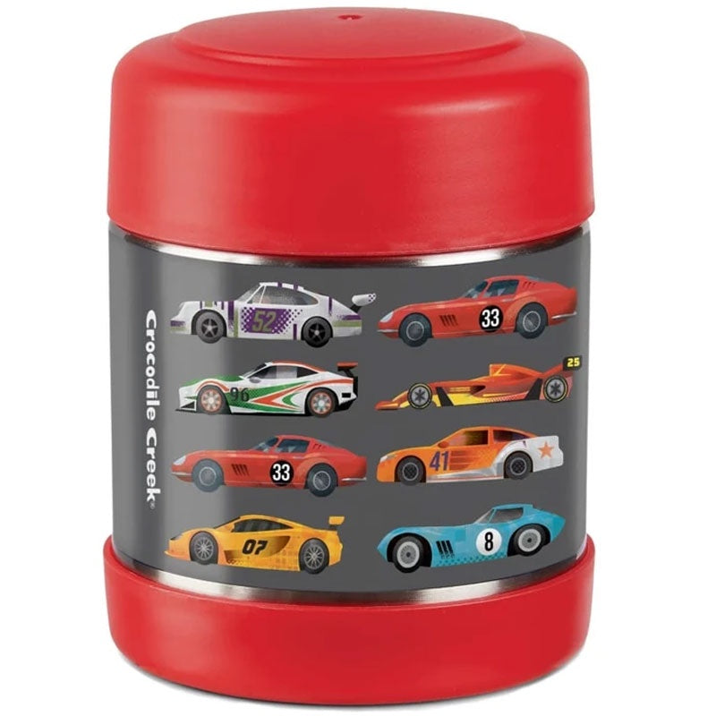 Crocodile Creek | Insulated Food Jar - Race Cars