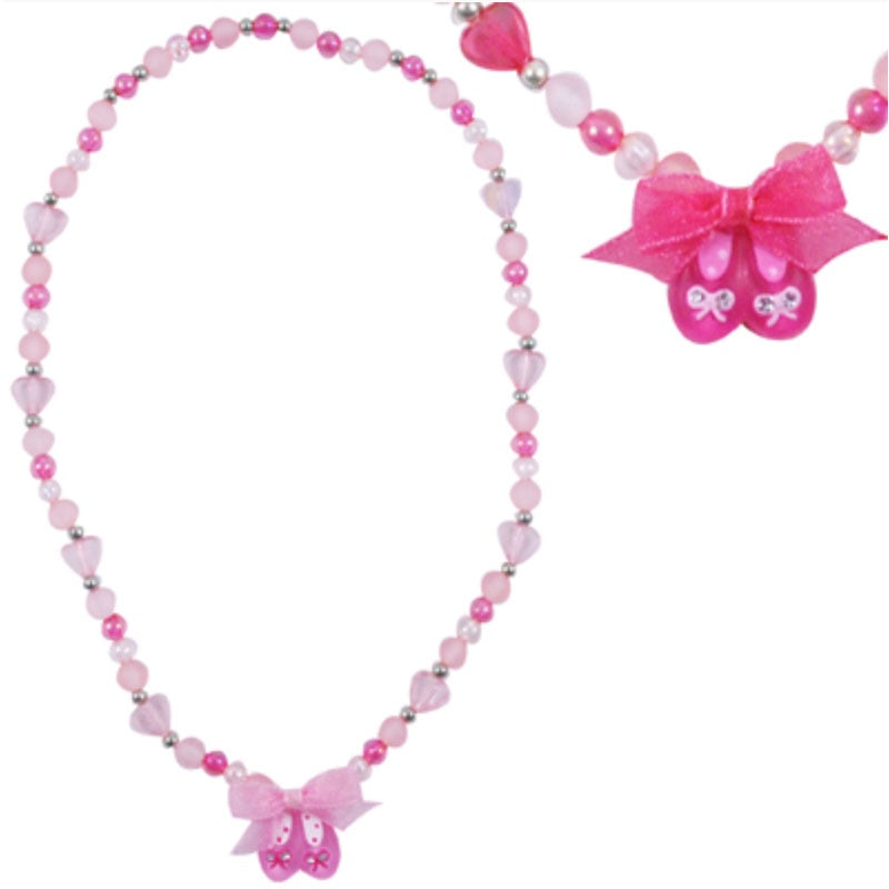 Pink Poppy | Pretty Ballet Shoe Necklace