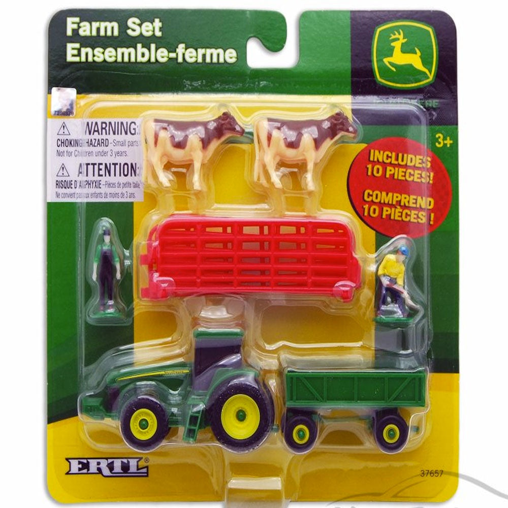 John Deere | 10 Piece Farm Set - Cows with Red Fence