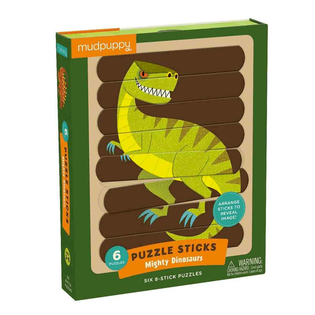 Mudpuppy | Puzzle Sticks - Mighty Dinosaurs