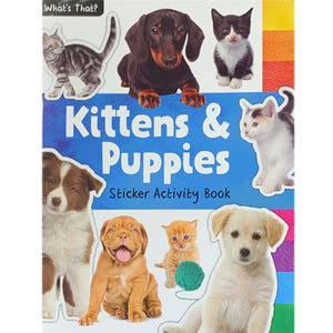 Kittens and Puppies Sticker Activity Book