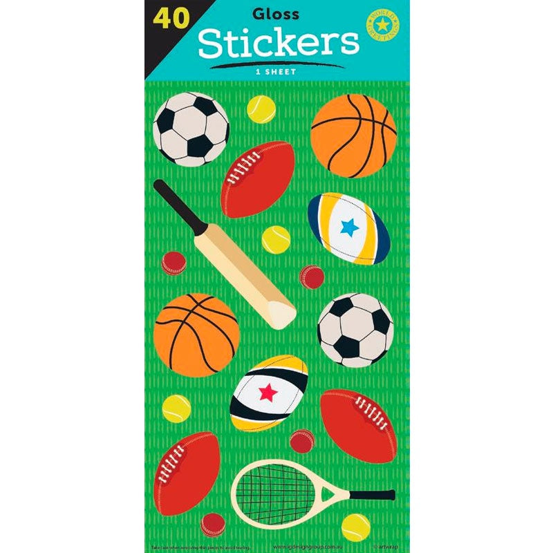 Sticker Sheet | Sports Balls
