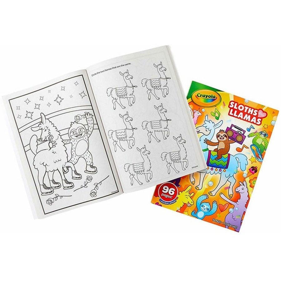Crayola | Colouring Book - Sloths Love Llamas