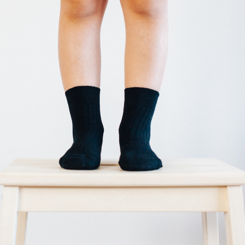 Lamington | Black - Crew Length Socks