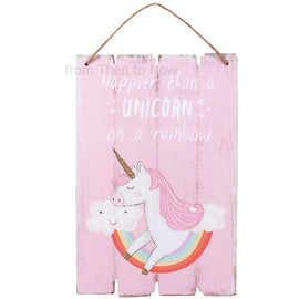 Wall Decor | Happier Than a Unicorn Plaque