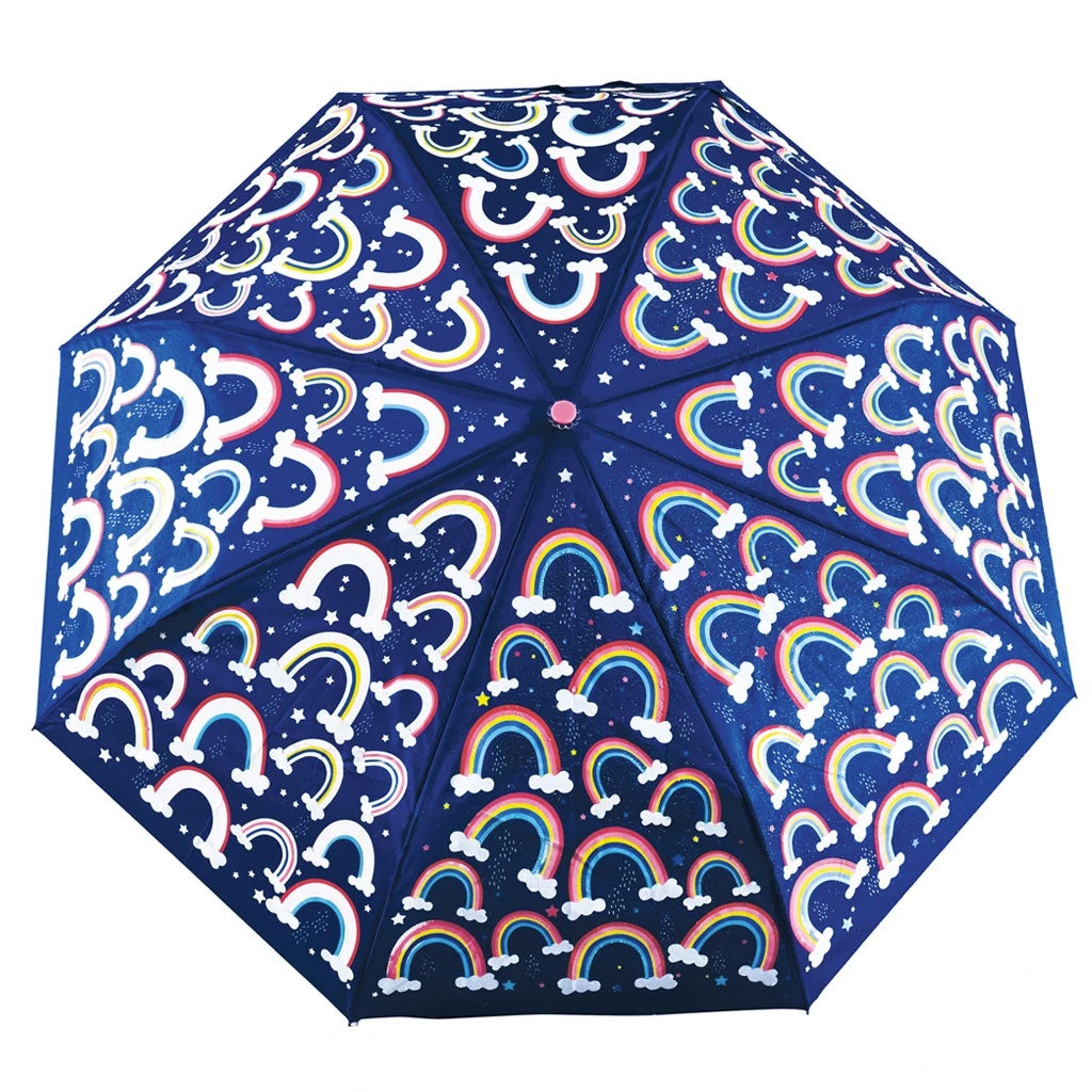 Floss & Rock | Colour Change Fold Up Umbrella - Rainbows