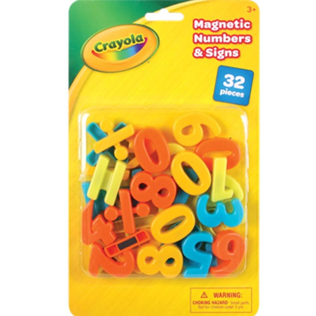 Crayola | Magnetic Numbers & Signs - 32 Pieces