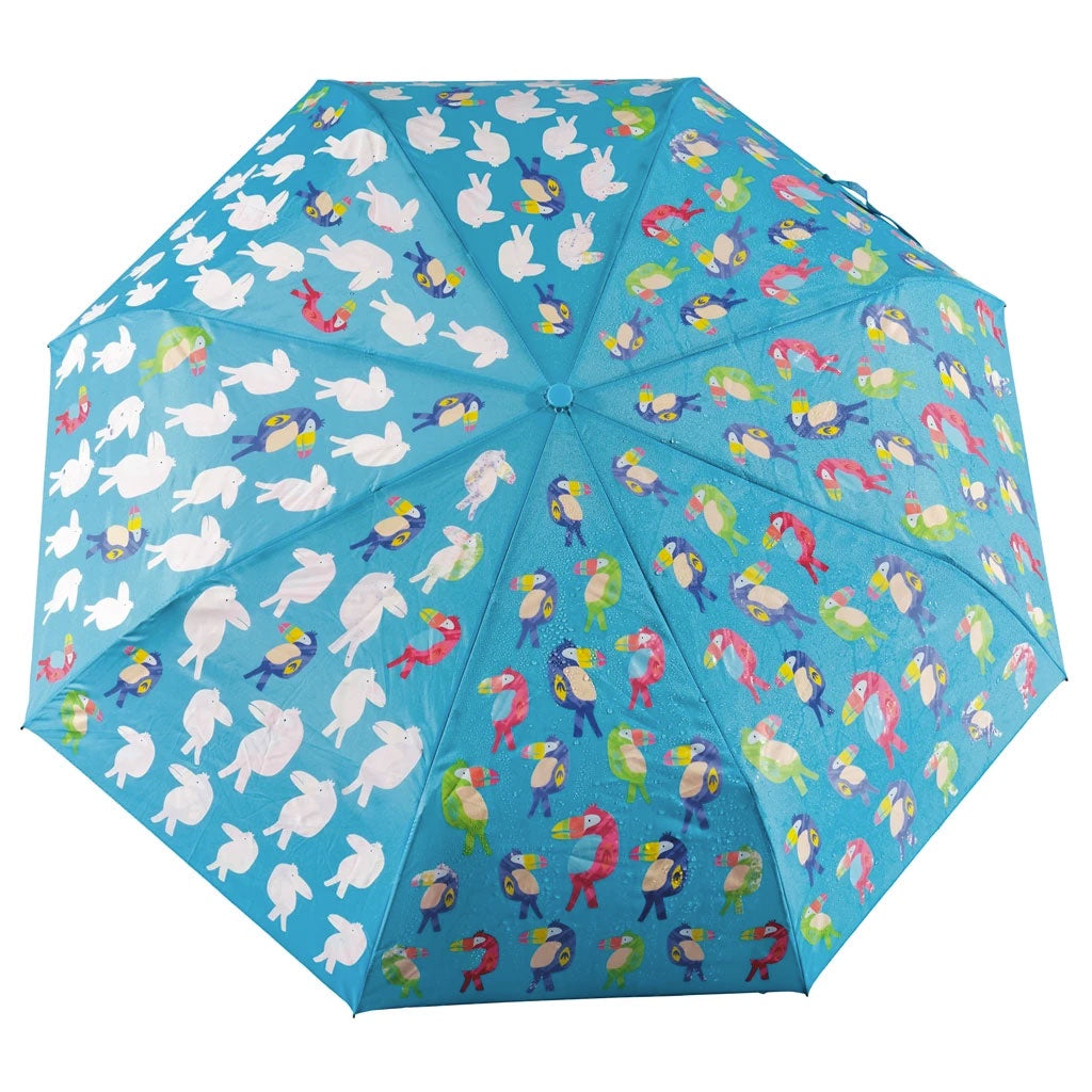 Floss & Rock | Colour Change Fold Up Umbrella - Toucan