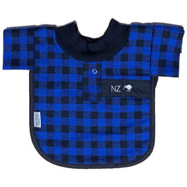 Little Poppet | Bib - Blue Bush Shirt