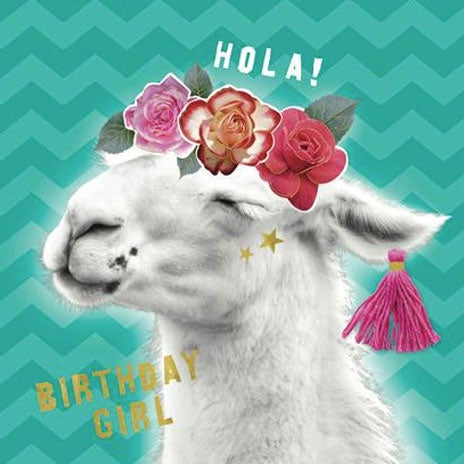 Birthday Card | Fancy That - Llama Flowers