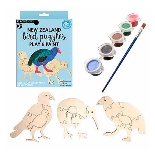 The Curious Kiwi | Bird Puzzles - Play and Paint