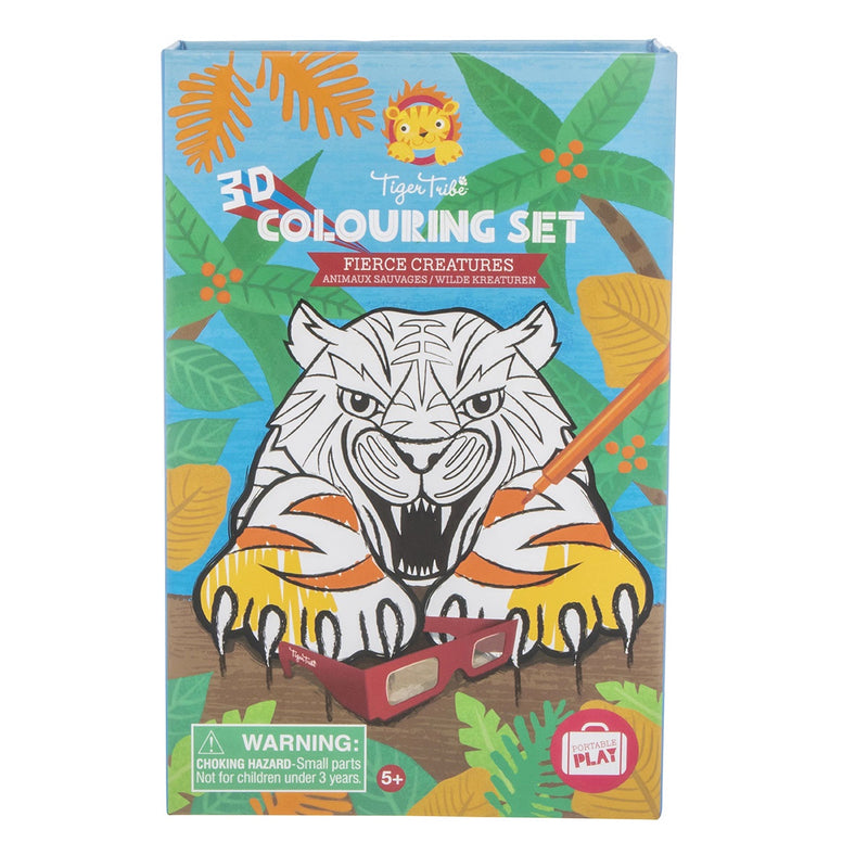 Tiger Tribe | 3D Colouring Set - Fierce Creatures