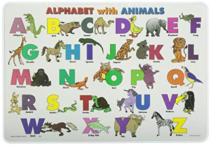 Learning Placemat | Alphabet with Animals