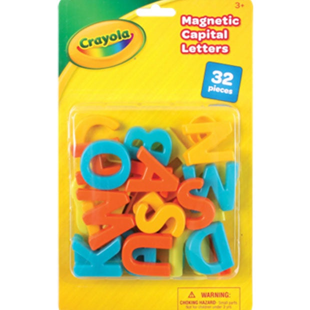 Crayola | Magnetic Capital Letters - 32 Pieces