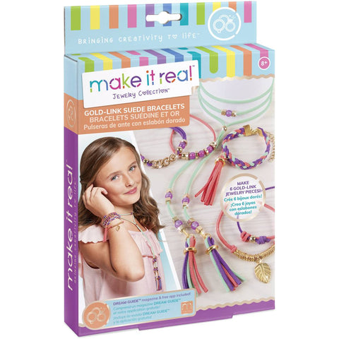 Make It Real | Gold-Link Suede Bracelets