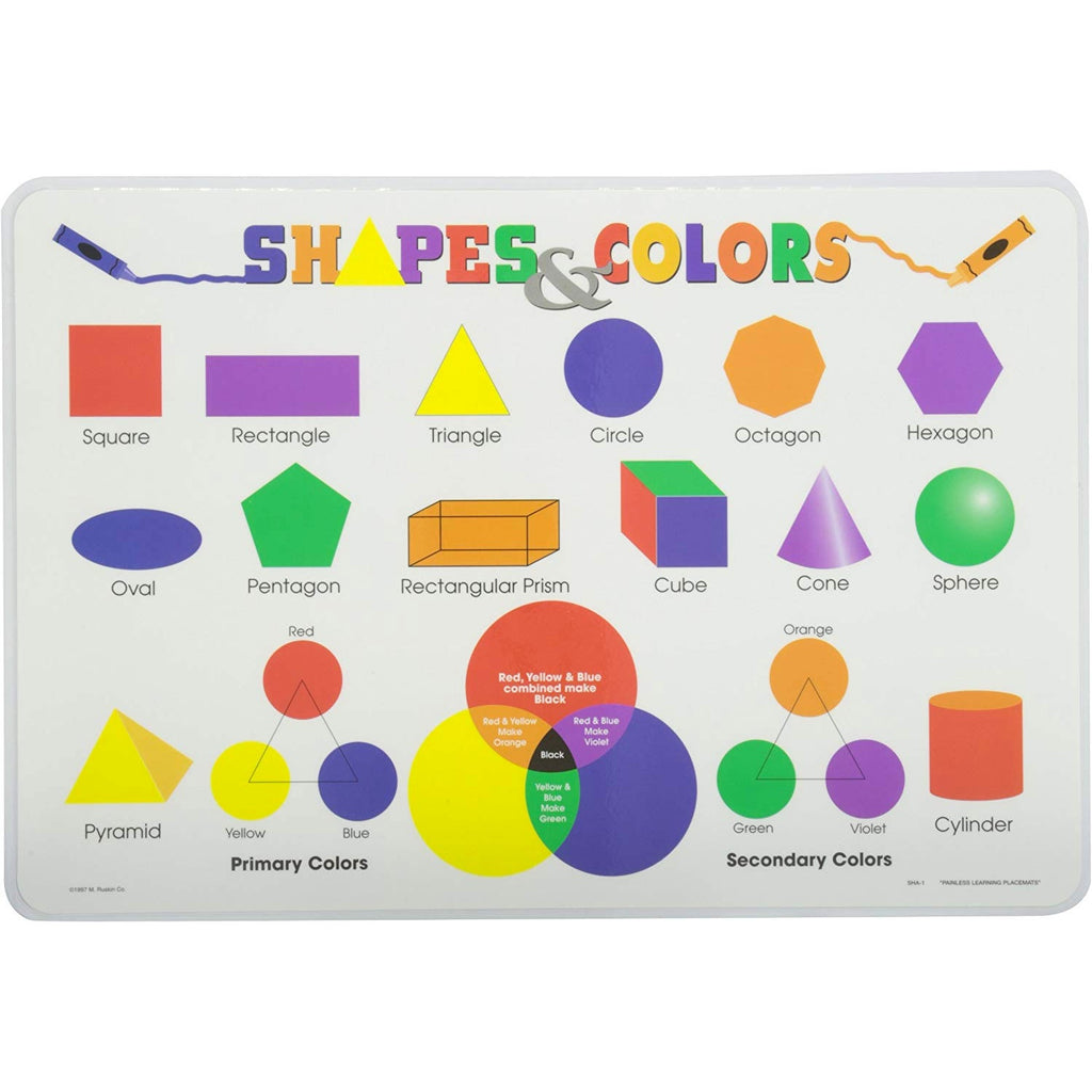 Learning Placemats | Shapes and Colors
