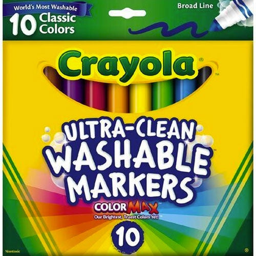 Crayola | Ultra Clean - 10 Washable Markers