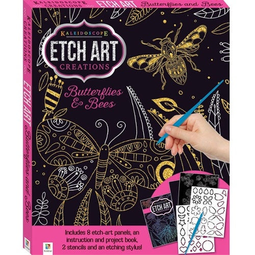 Hinkler | Etch Art Mini Kits - Butterflies & Bees