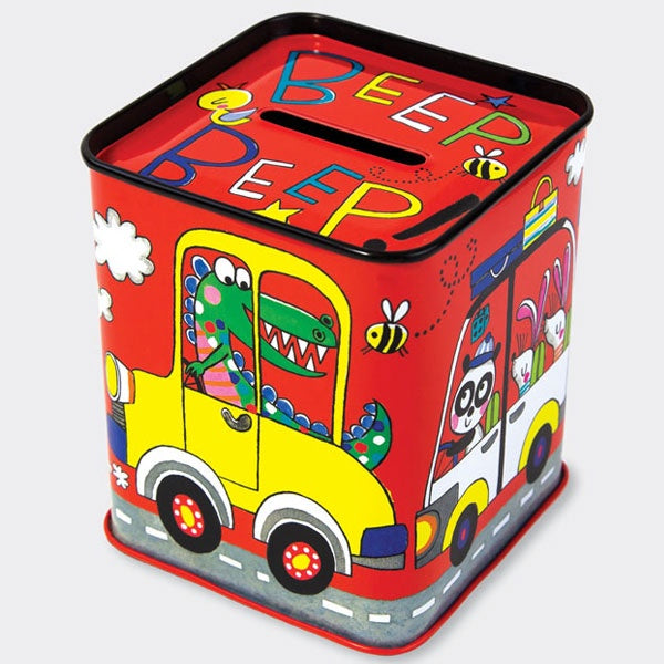 Rachel Ellen | Money Box Tin - Cars
