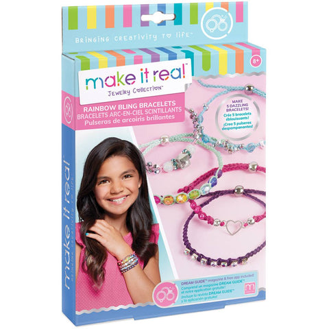Make It Real | Rainbow Bling Bracelets