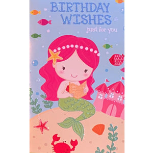 Birthday Card | Mermaid Wishes Just For You