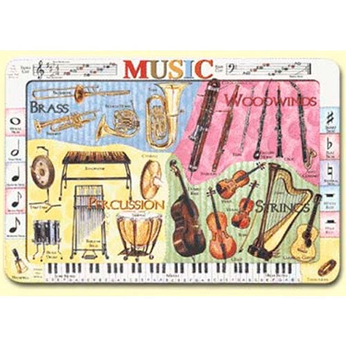 Learning Placemats | Musical Instruments