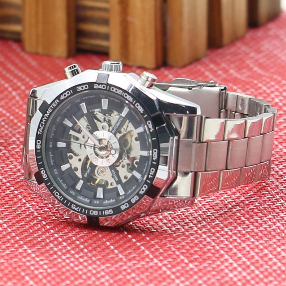 Automatic Mechanical Stainless Wrist Watch