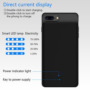 Ultra Slim iPhone Battery Case With Portable Charger