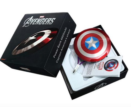 Captain America Shield Universal Powerbank For Mobile Phones