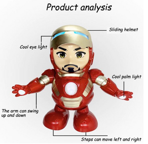 Iron Man Dancing Hero Action Figure Robot