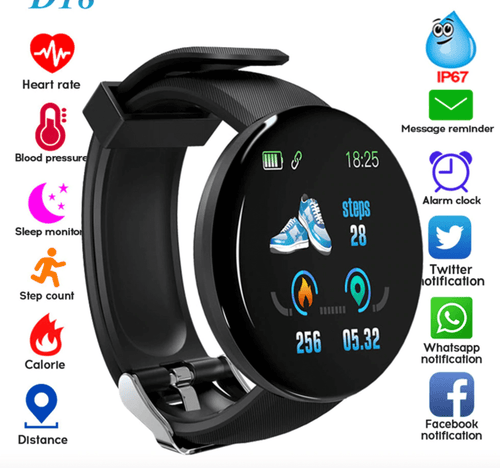 Smart Watch With Blood Pressure Waterproof Sport Tracker