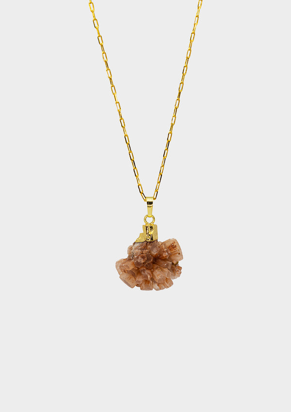 ASGER ARAGONITE STARCLUSTER GOLD PLATED