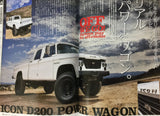 A-cars Japanese Car Magazine American Cars Icon D200 Power Wagon 12/2015 p108